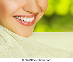Beautiful smiling woman close-up