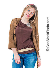 smiling young attractive woman portrait