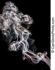 beautiful smoke on black background