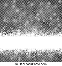snow flakes background with transparency