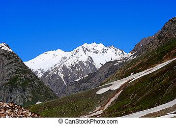 Beautiful snow peak in a Himalaya