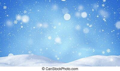 beautiful snowdrift and snowfall - beautiful snowdrift and...