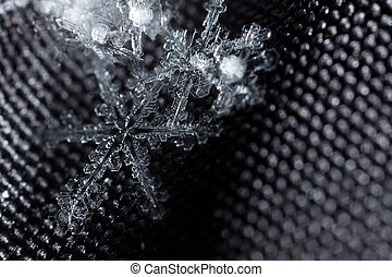 Beautiful snowflake closeup