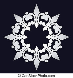 snowflake with ornament.