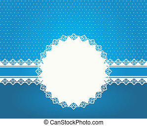 Beautiful snowflake with ornament.