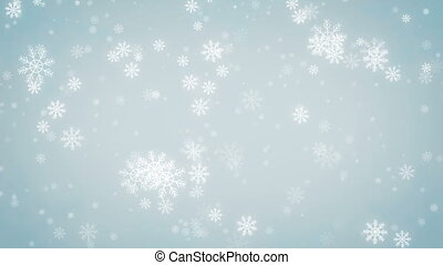 Beautiful Snowflakes  background.