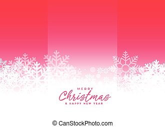beautiful snowflakes background with text space
