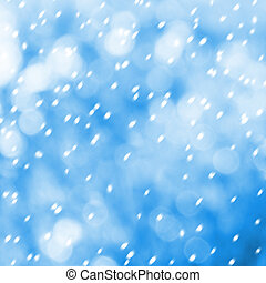 Beautiful snowflakes on abstract background with bokeh effect