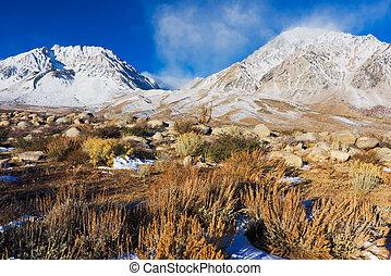 Beautiful Snowy Mountain at Sunrsie