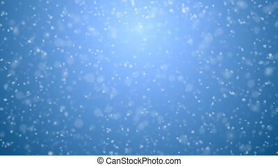 Beautiful Soft Snowfall Seamless on Blue Gradient 3d...