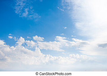 Beautiful soft white clouds against blue sky