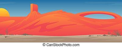 Beautiful Southwestern USA Desert Valley Landscape Scene ...