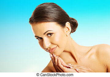 Beautiful spa woman