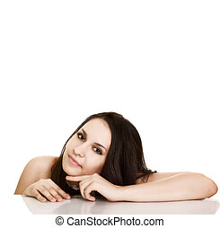 Beautiful Spa Woman portrait. Clear fresh skin.