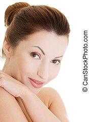 Beautiful spa woman portrait