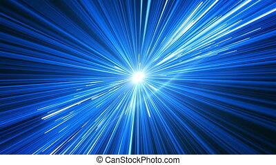 Beautiful Space Travel Through Stars Trails Spinning....