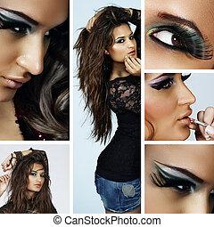 beautiful spanish woman collage