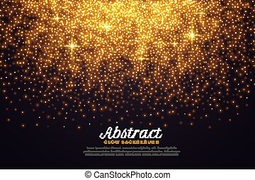 beautiful sparkles background in golden color