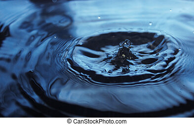 Beautiful splash of water drop on water surface