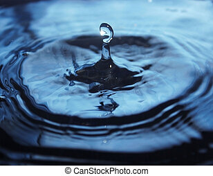 Beautiful splash of water drop on water surface