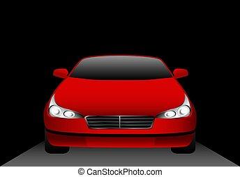 beautiful sporting car