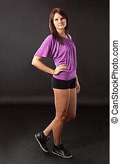 Beautiful sporty young women