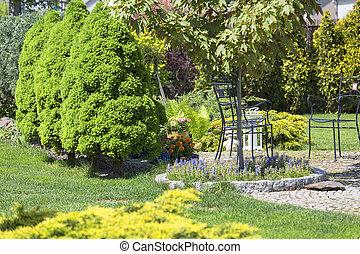 Beautiful spring garden, beauty in nature