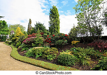 Beautiful spring garden