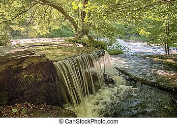 Beautiful Springtime Waterfall