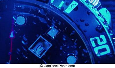 Beautiful stainless steel mechanical clock. Chronograph ...