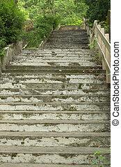 Beautiful stairway in the park