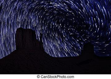 Star Trails in Monument Valley Navajo Nation Arizona