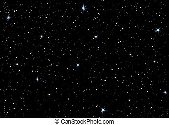 Beautiful stars in the night sky