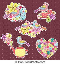 beautiful Stickers with birds