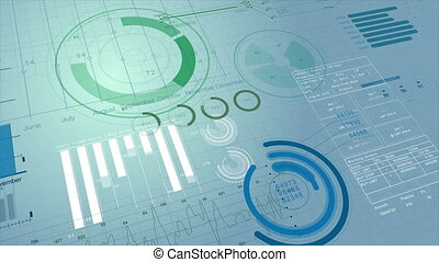Beautiful Stock Market Information 3d Animation. Financial Figures, Charts and Diagrams Growing on Digital Display. Business Technology Concept Background. Useful for Presentations. 4k UHD 3840x2160.