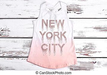 Beautiful strass print t-shirt for girls. Sleeveless cotton...