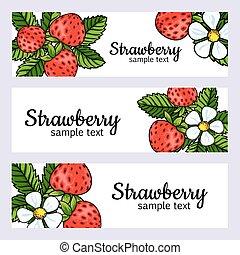 beautiful strawberries web banners