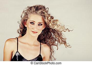 beautiful strawberry blond teenage girl .