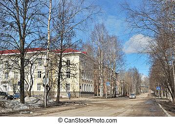 Beautiful street in Syktyvkar