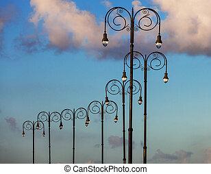 beautiful street lights