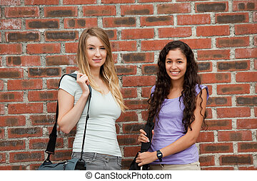 Beautiful students posing