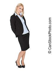 Beautiful successful businesswoman