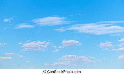 Beautiful summer blue sky. Timelapse - Beautiful white...