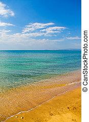 Beautiful summer coast of beach