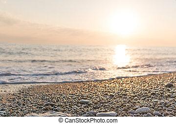 Beautiful Summer Golden sunset on the sea