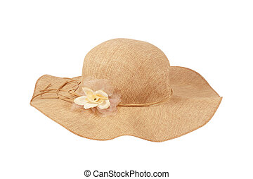 Beautiful Summer Hat (isolated on w