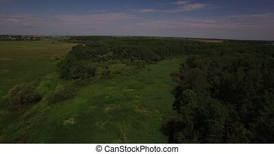 Beautiful summer landscape aerial view - Beautiful field and...