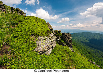beautiful summer landscape in mountains. view from the...