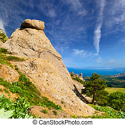 Beautiful summer landscape in the Crimea
