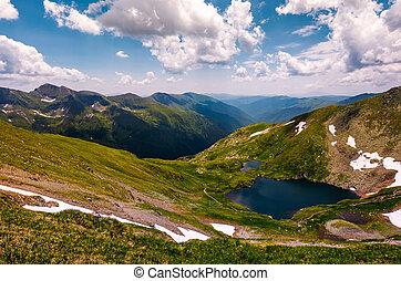 beautiful summer landscape of Fagaras mountains. stunning...